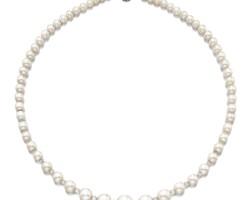 1796. 天然珍珠配鑽石項鏈