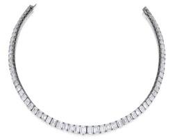 256. 鉑金鑲鑽石項鏈