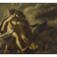 48. tuscanschool, 17th century | allegory of virtues overcoming vice