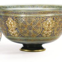 23. philippe-joseph brocard (1831-1896)a late 19th century large green glass bowl |