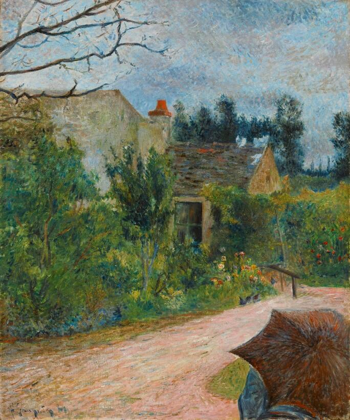 Paul Gauguin, Le Jardin de Pissarro, Quai du Pothuis à Pontoise, 1881