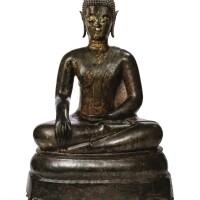 137. statue de bouddha shakyamuni en bronze thaïlande, style d'ayutthaya, xviie siècle |