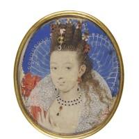 2. nicholas hilliard   portrait of a lady, circa 1605