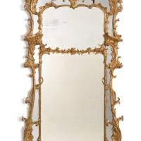 5. a fine george iii giltwood pier mirror circa 1760