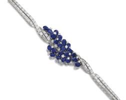 136. 藍寶石鑲鑽石手鏈