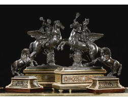 2. a pair of bronze rearing horses french