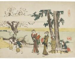 11. katsushika hokusai (1760-1849)a wayside scene (oji) edo period, 19th century |