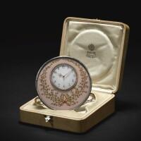 87. 法貝熱銀鎏金琺瑯時計 工匠米哈伊爾·佩欽,聖彼得堡 1899-1903年 |