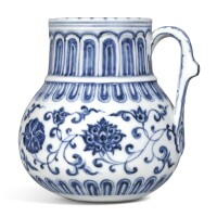 3310. an outstanding blue and white tankard mark and period of xuande |