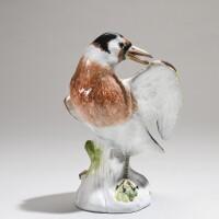 6. a meissen figure of a starling circa 1740-50