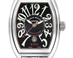 12. franck muller | conquistador, reference 8001 sc kinga stainless steel wristwatch with date and bracelet, circa 2009