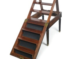 37. a set of directoire mahogany library steps