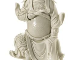 101. a dehua figure of guandi qing dynasty, 17th/18th century