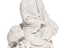 5. a dehua figure of manjushri qing dynasty