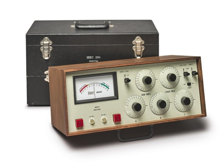 ISEC 250 Stock market Computer in an auction selling historic technological instruments