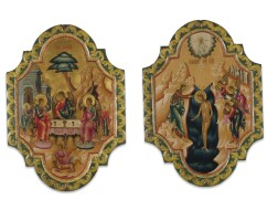 9. a russian double-sided processional icon, late 18th/19th century