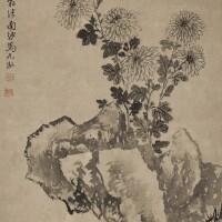 2503. 馬元馭 1669-1722 | 摹沈周菊石圖