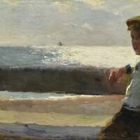 11. walter frederick osborne, r.h.a | seated boy and sea