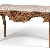 40. alouis xv carved oak center table  