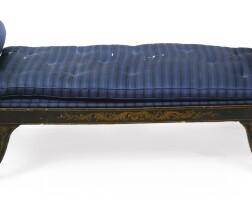 266. a regency parcel-gilt and black-japanned daybed, circa 1810