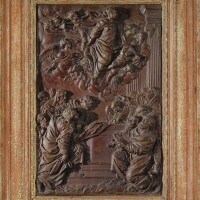 9. relief en cire représentant l'assomption de la vierge