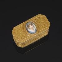 35. 雕鏤黃金肖像鼻煙盒,阿德里安-讓-馬克西米利安·瓦謝特製造,巴黎,1789年 | 雕鏤黃金肖像鼻煙盒,阿德里安-讓-馬克西米利安·瓦謝特製造,巴黎,1789年