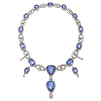 449. sapphire and diamond necklace, first half of the 19th century