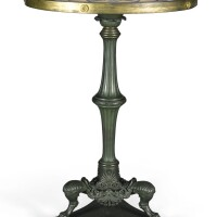 246. an italian patinated bronze gueridon table with a marble specimen and micromosaic top, circa 1820 |