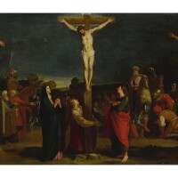 1. spanish school, early 17th century | crucifixion with thieves