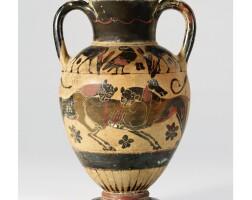 30. a chalcidian black-figured amphora, circa 550-525 b.c.