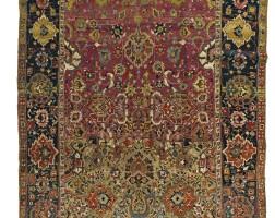 17. an isphahan carpet, central persia