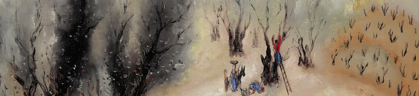 A modern Israeli painting by the Jewish artist Reuven Rubin sold at auction