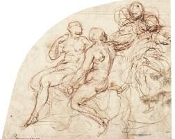 4. battista franco, called il semolei | a group of female figures