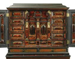 6. a flemish gilt-bronze and silvered metal-mounted ivory inlaid tortoiseshell ebony and ebonised cabinet, antwerp circa 1650