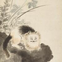 2511. 華喦 1682 - 1756 | 貓石圖