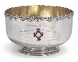46. manhattan athletic club: an american silver punch bowl, gorham mfg. co., providence, ri, 1890  