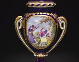 20. 塞夫爾軟瓷花瓶及瓶蓋 1769年,夏爾·埃盧瓦·亞瑟蘭繪製 |