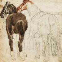 38. armando spadini | two horses, study