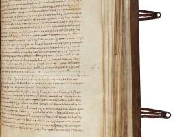 8. john chrysostom, homilies on matthew's gospel, in greek [constantinople, late 9th century]