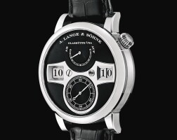 127. a. lange & söhne | zeitwerk a white gold wristwatch with digital time display and power reserve indication, circa 2010