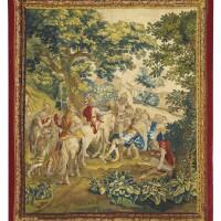 6. tapisserie flamande alexandre et porus, de la tenture de l'histoire d'alexandre, atelier bruxellois, second quart du xviiie siècle, d'après charles le brun