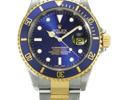 3. rolex | a stainless steel and yellow gold automatic centre seconds wristwatch with date and braceletref 16613 case y244024 submariner circa 2002