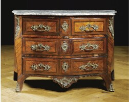208. a good gilt-bronze mounted rosewood and kingwood commode by brice peridiez early louis xv, circa 1740