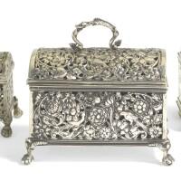 304. three dutch silver marriage caskets, various marks, 17th century |