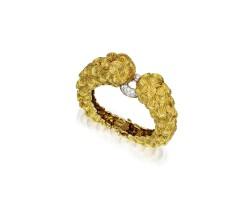 199. 黃金鑲鑽石手鏈, david webb
