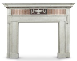 4. a george iii style carved marble fireplace