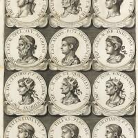 10. aquila, chronologia summorum romanorum pontificum ... effigies romanorum, roma, 1675-1681, pelle