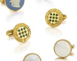 2012. unsigned | 三對黃金及銅製袖扣,約2000年製。