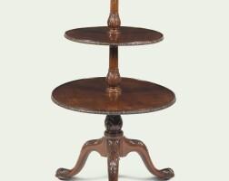112. a george iii carved mahogany dumb waiter, circa 1765 |