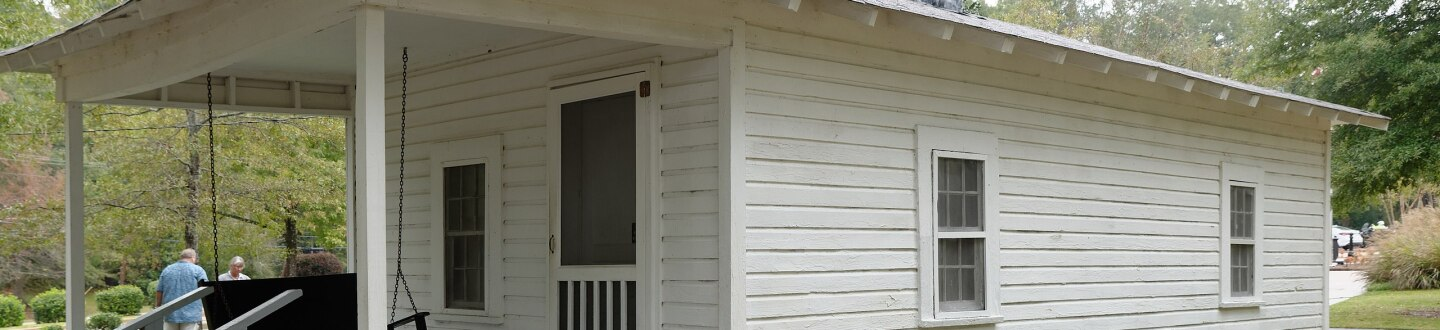 Exterior view of the Elvis Presley Birthplace & Museum in Tupelo, Mississippi.